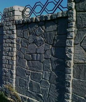 Заборы из камня и кирпича