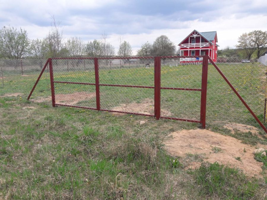 Забор из сетки рабицы 280м с воротами и калиткой фото2
