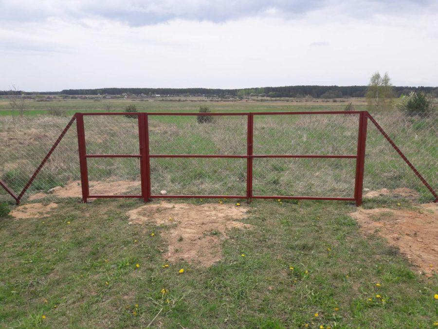 Забор из сетки рабицы 280м с воротами и калиткой фото6