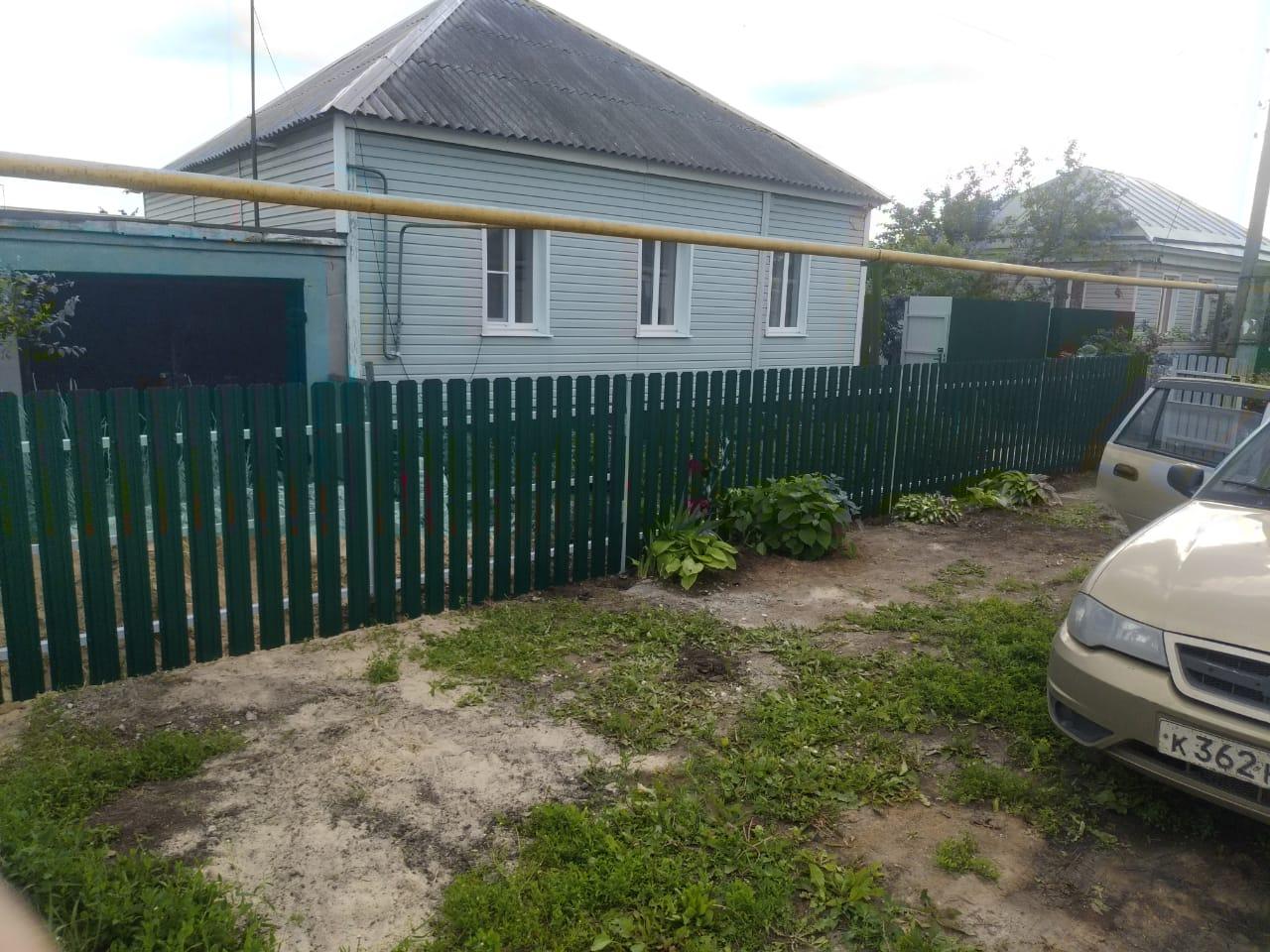 Комбинированный забор 25м штакетник и профлист, ворота, калитка фото4