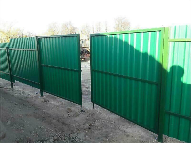 Забор, ворота, калитка из зеленого профлиста 150м фото 6