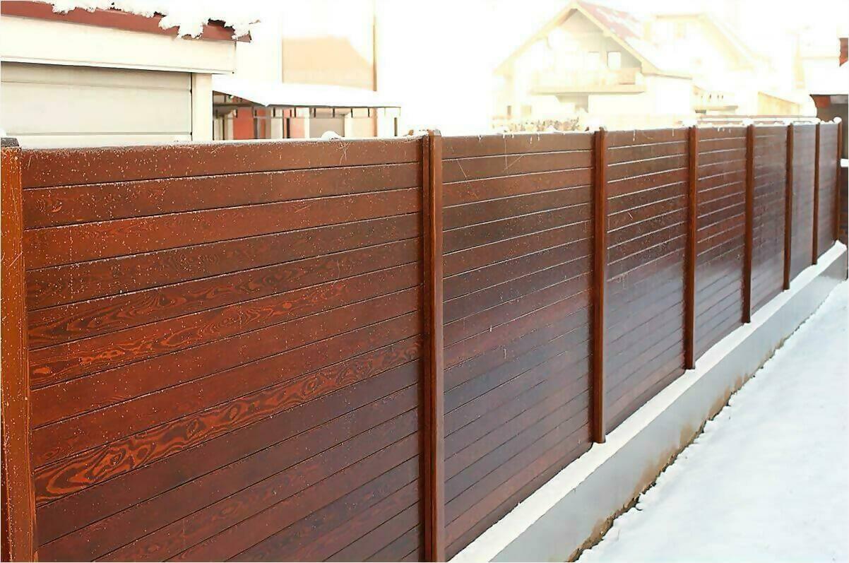 деревянный забор 90м фото1