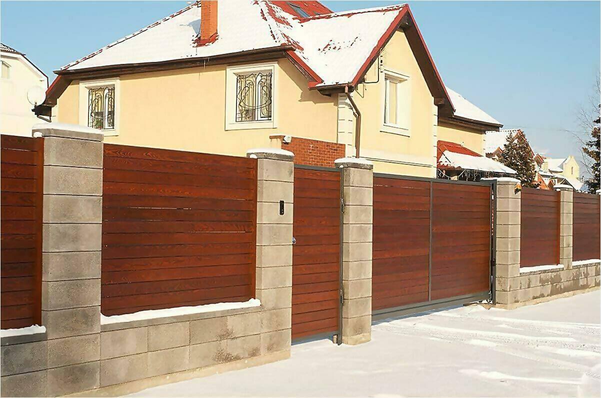 деревянный забор 90м фото2