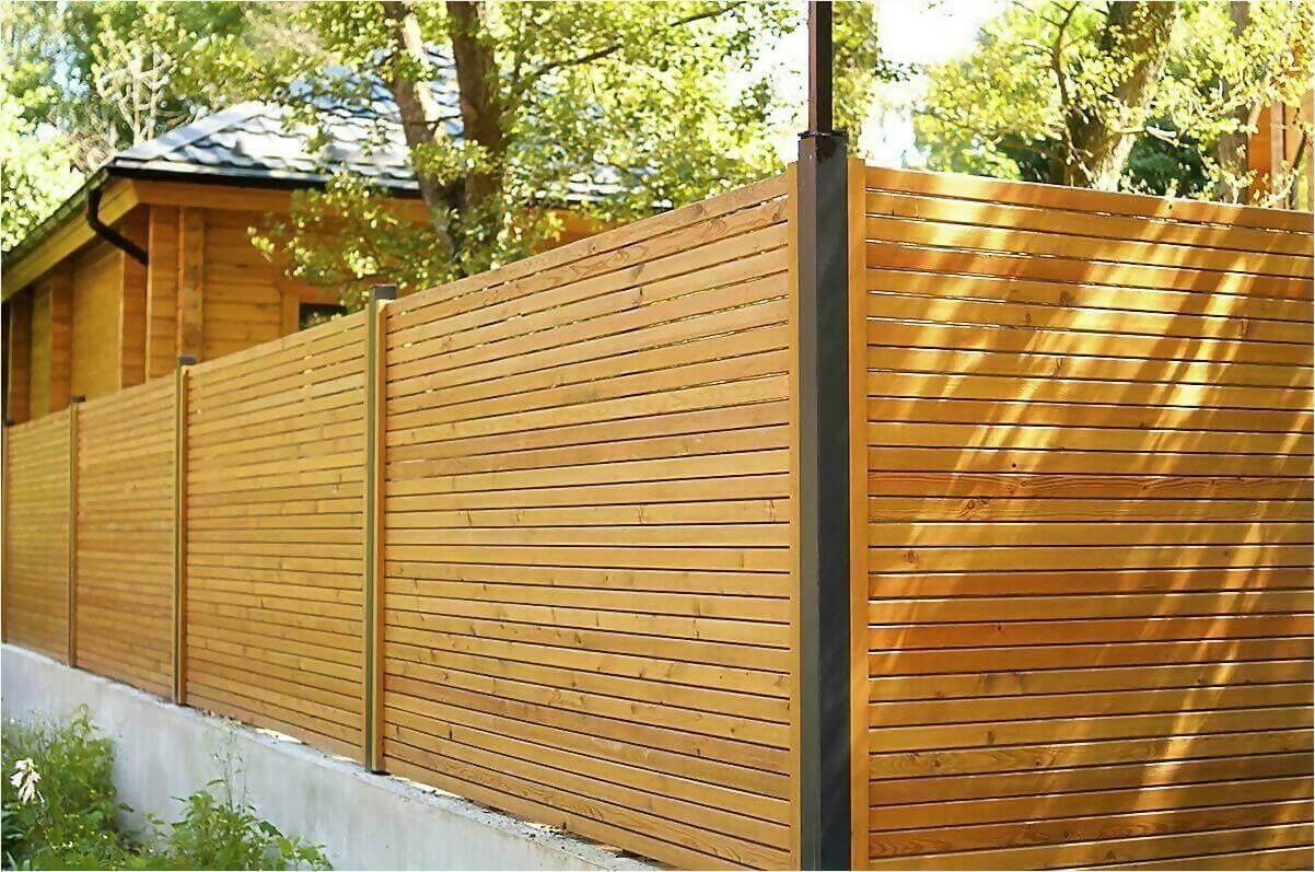деревянный забор фото5