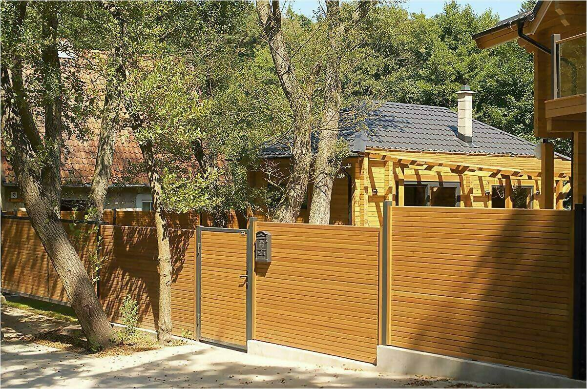 деревянный забор фото3