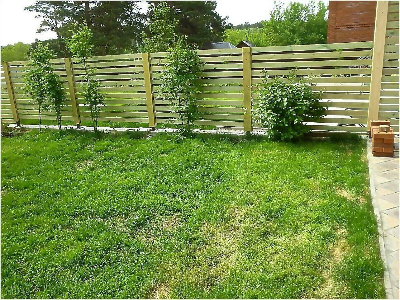 Забор деревянный 125м фото2