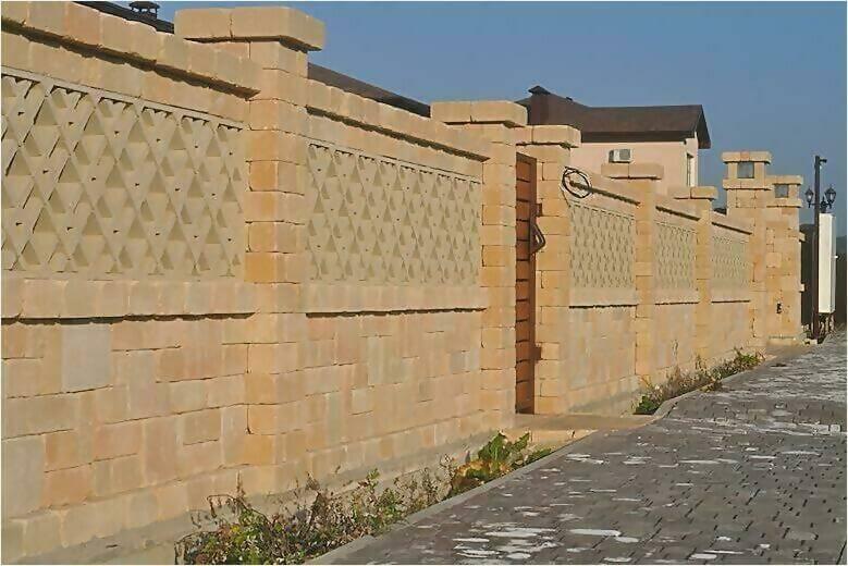 забор из камня фото1