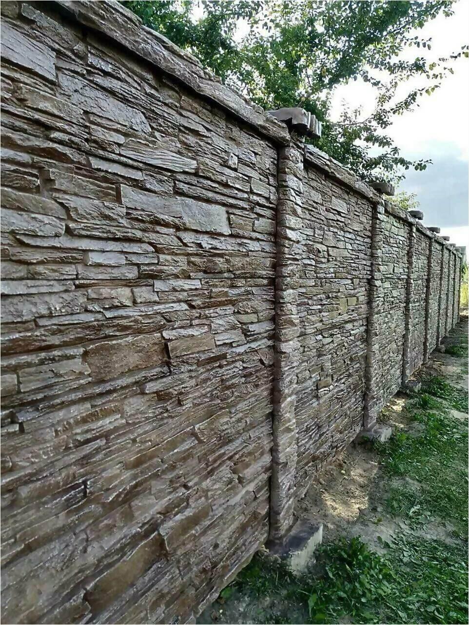 Забор из декоративного камня фото1