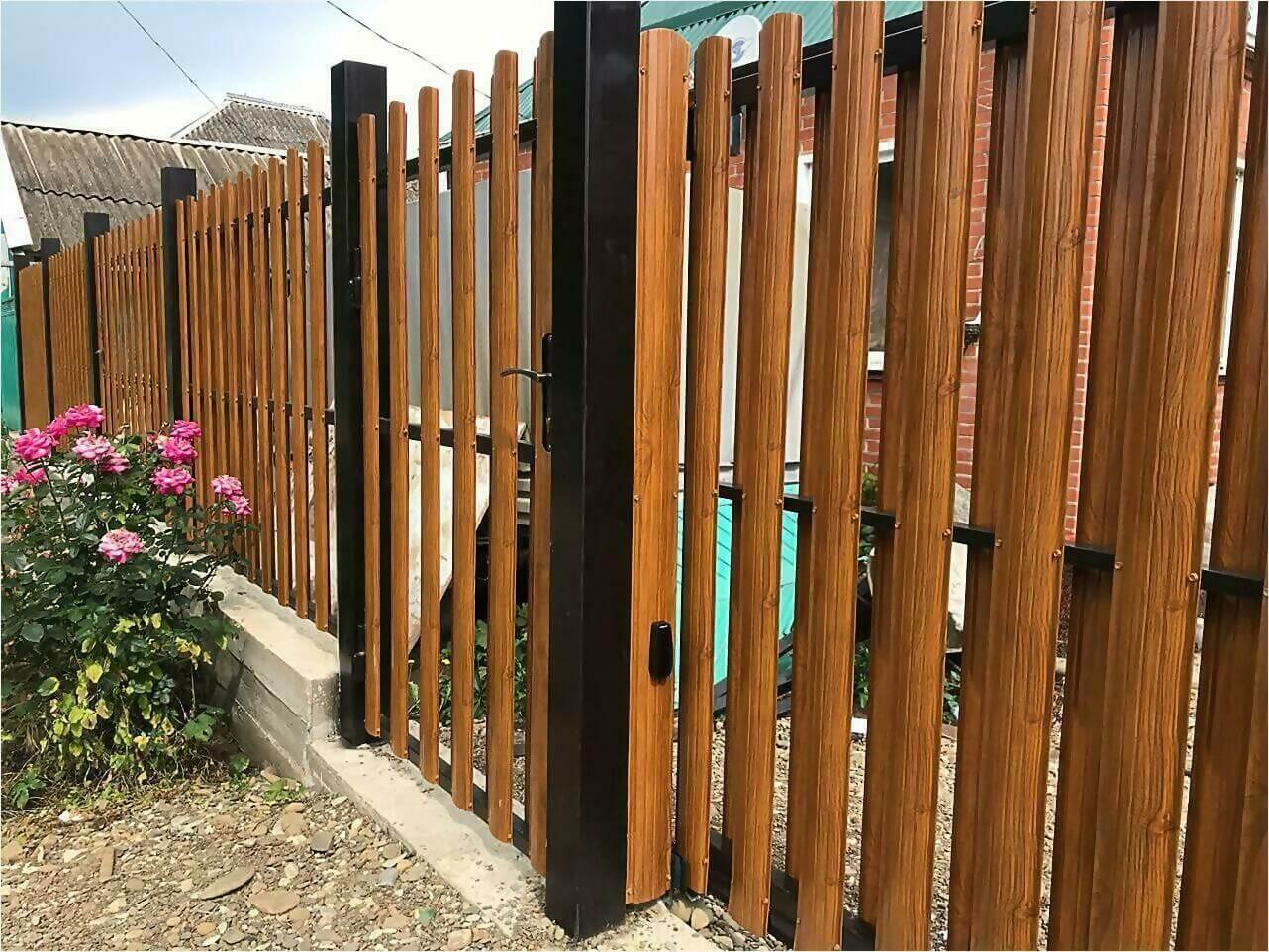 Забор из штакетника 110м фото3
