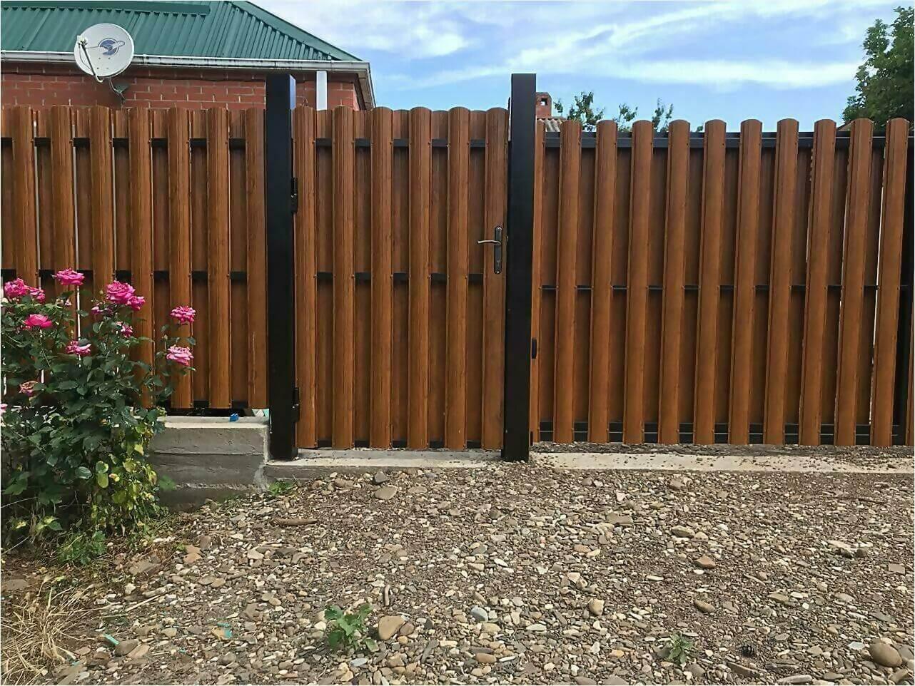 Забор из штакетника 110м фото6