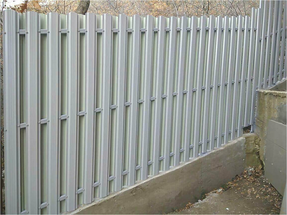 Забор из штакетника 115м фото3
