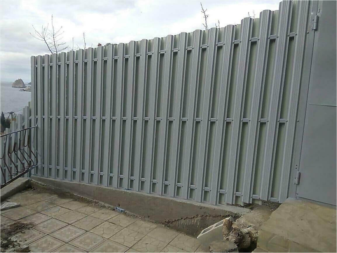 Забор из штакетника 115м фото2