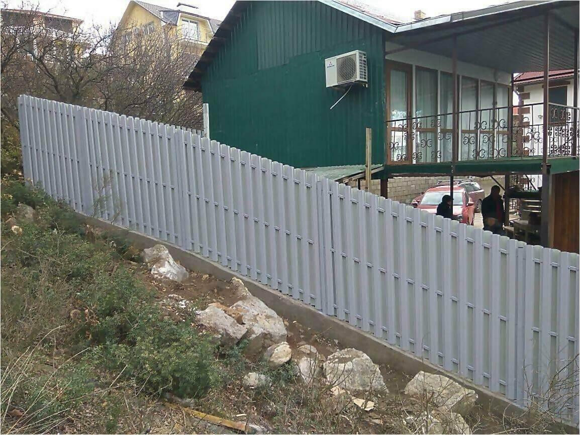Забор из штакетника 115м фото4