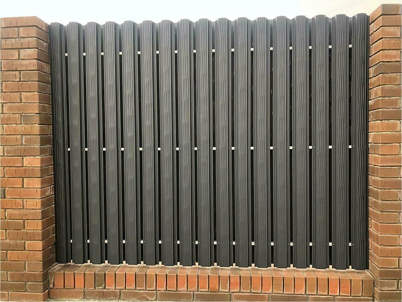 Забор из штакетника 115м фото8