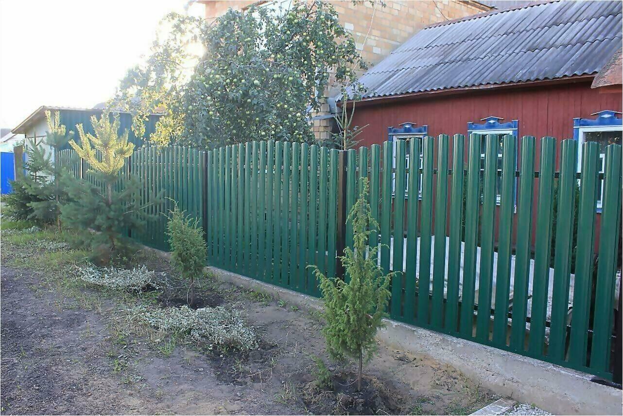 Забор из штакетника 60м фото1