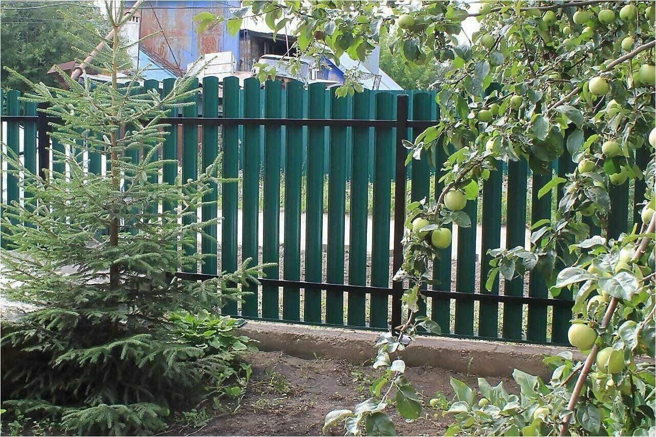 Забор из штакетника 60м фото2
