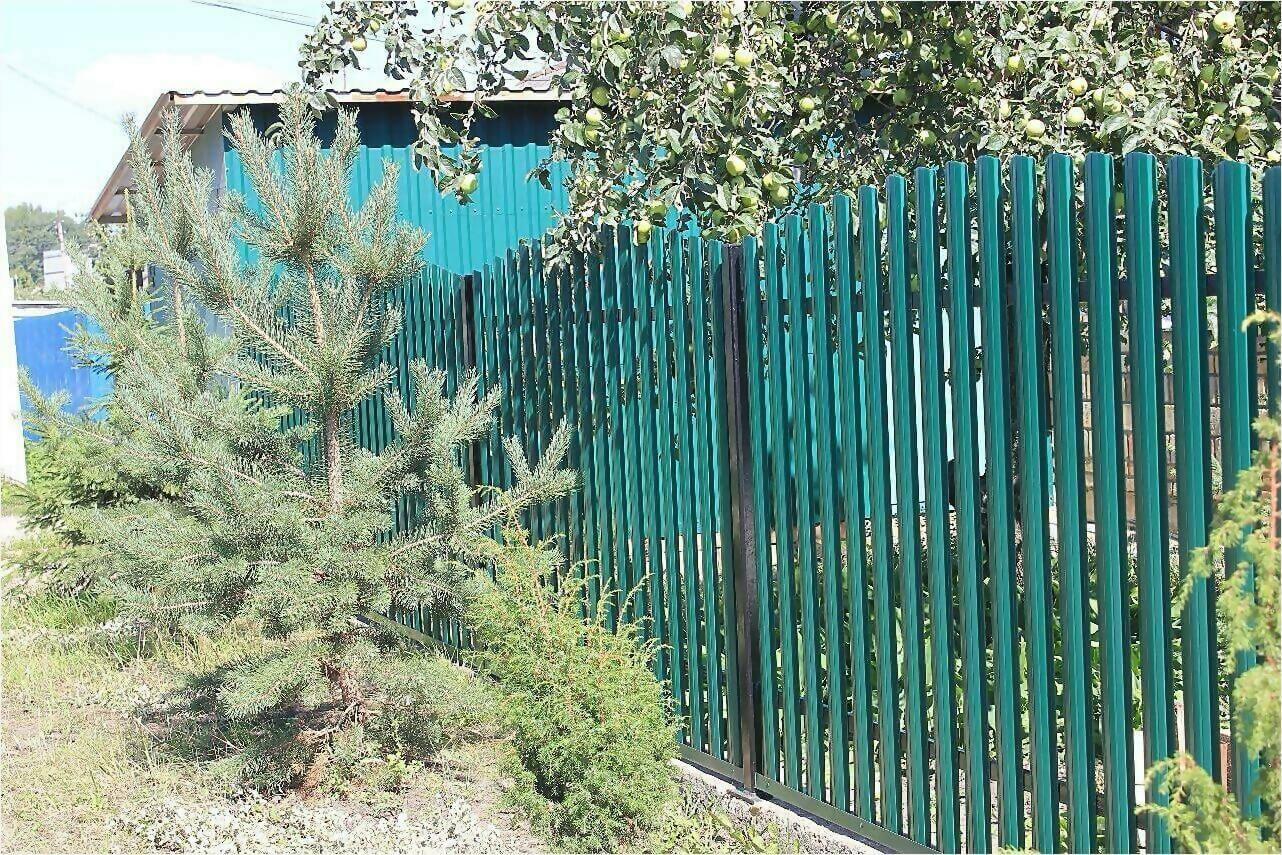 Забор из штакетника 60м фото5