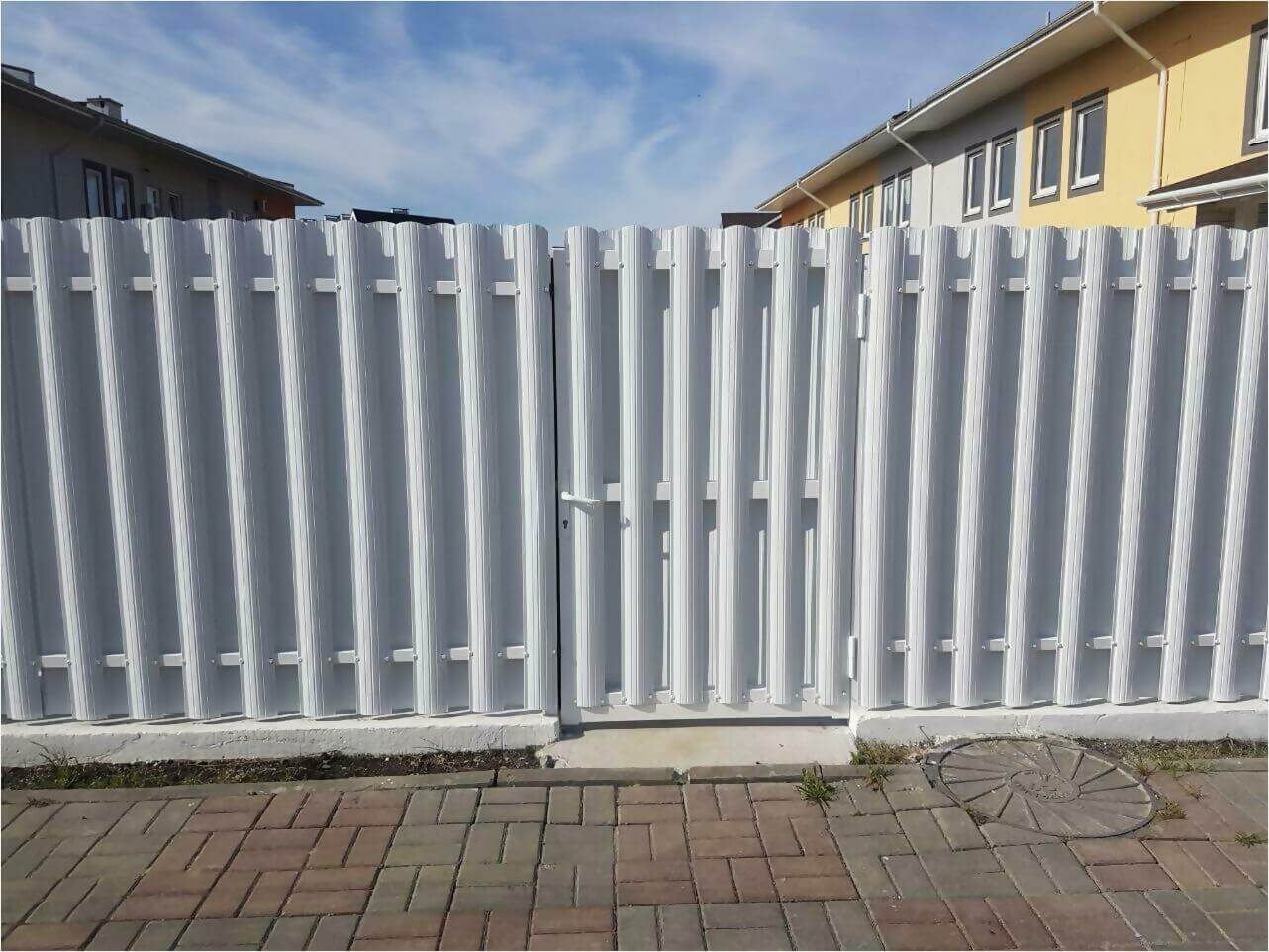 Забор из штакетника 70м фото4