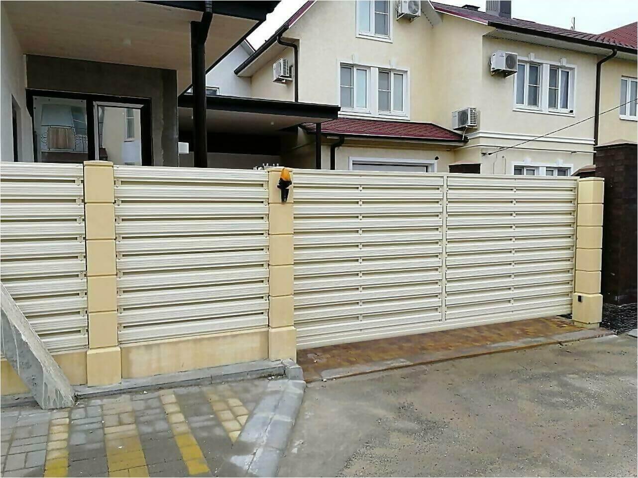 забор из штакетника 70м фото3