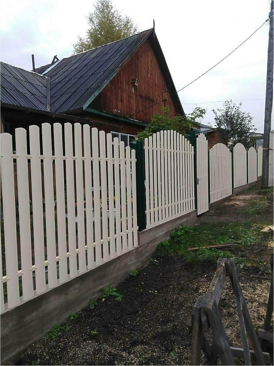 забор из штакетника 75м фото1