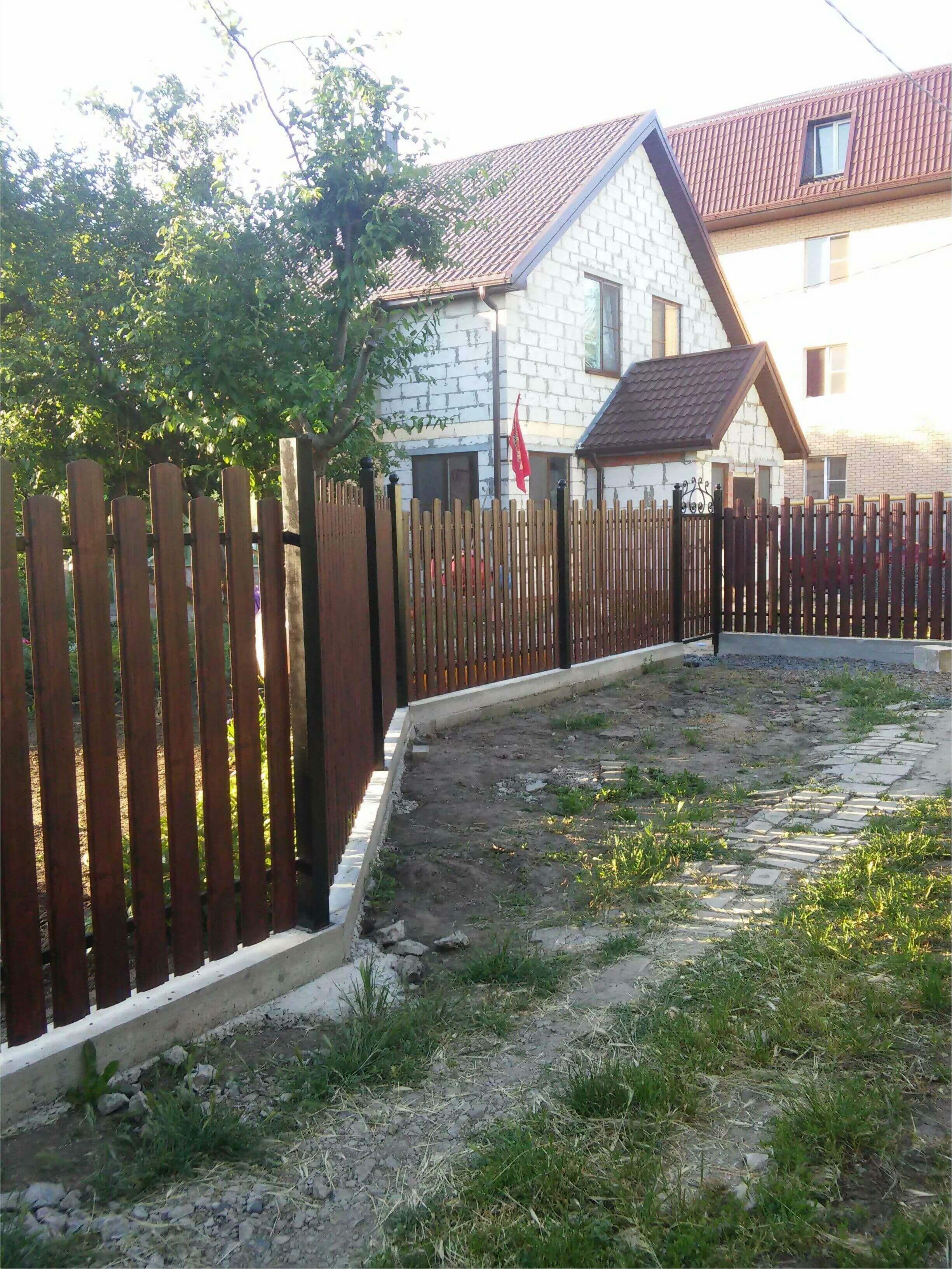 Забор из штакетника 90м фото4