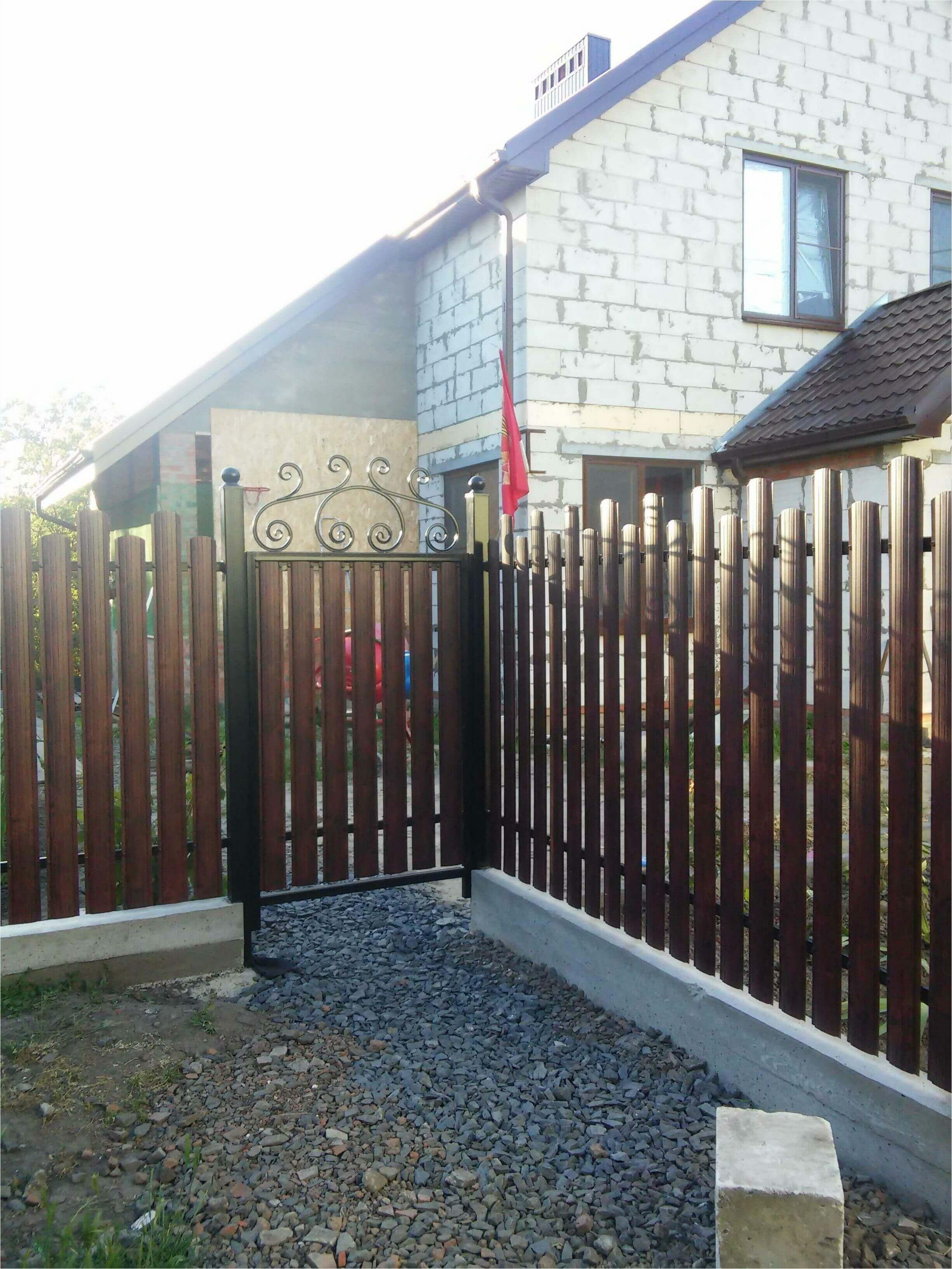 Забор из штакетника 90м фото3
