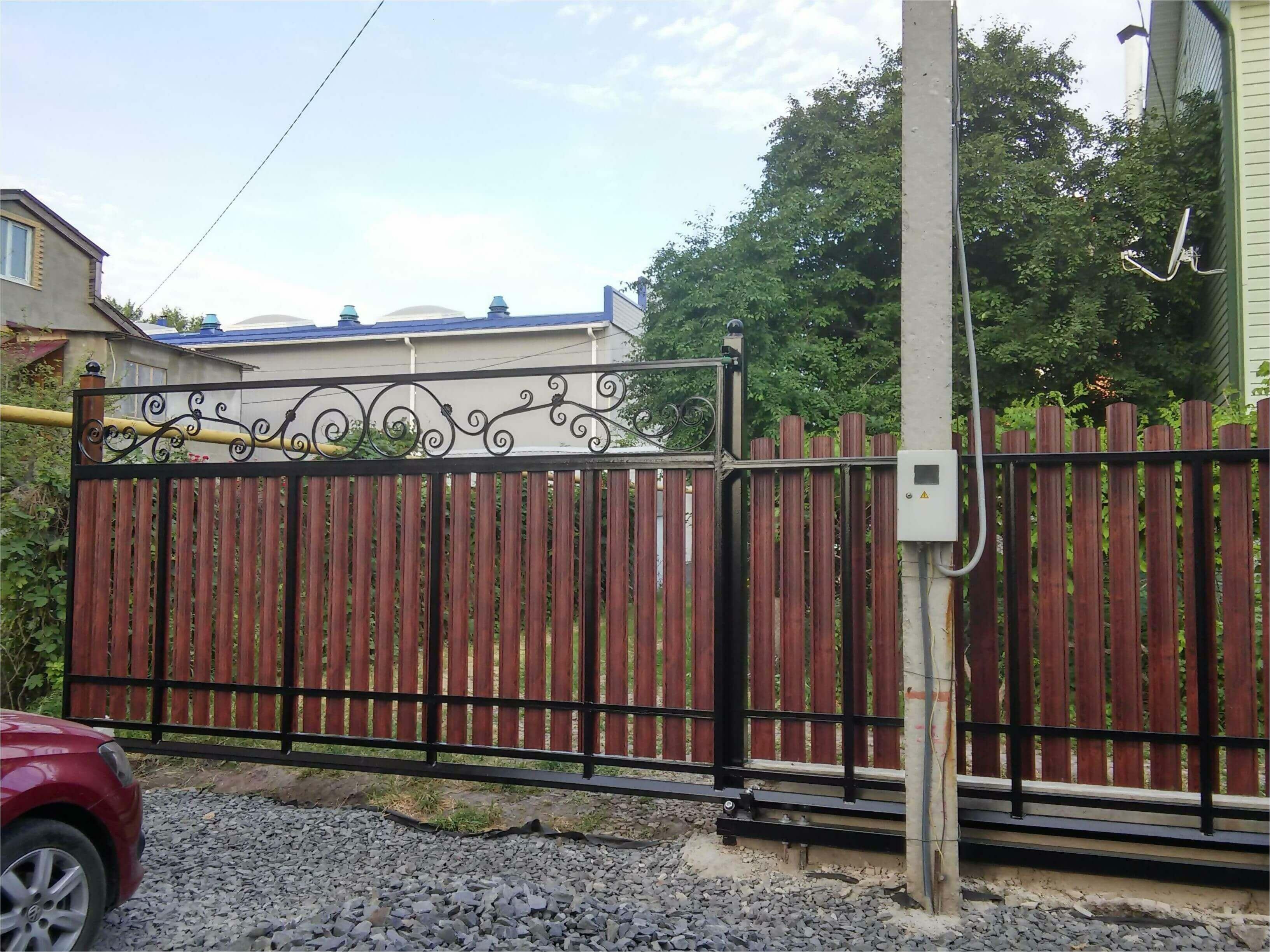 Забор из штакетника 90м фото2