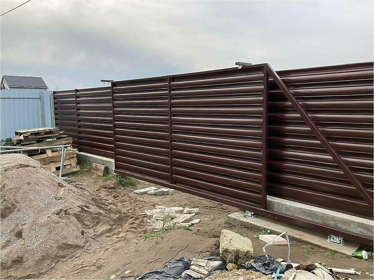 Забор из штакетника 85м фото4