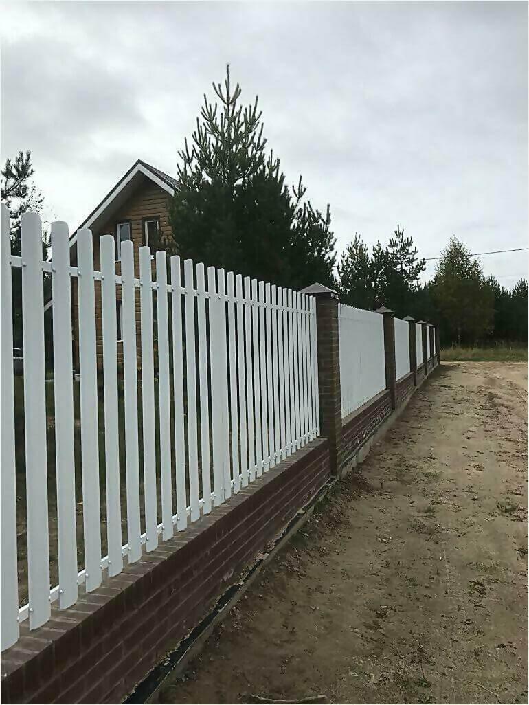 забор из штакетника 95м фото1