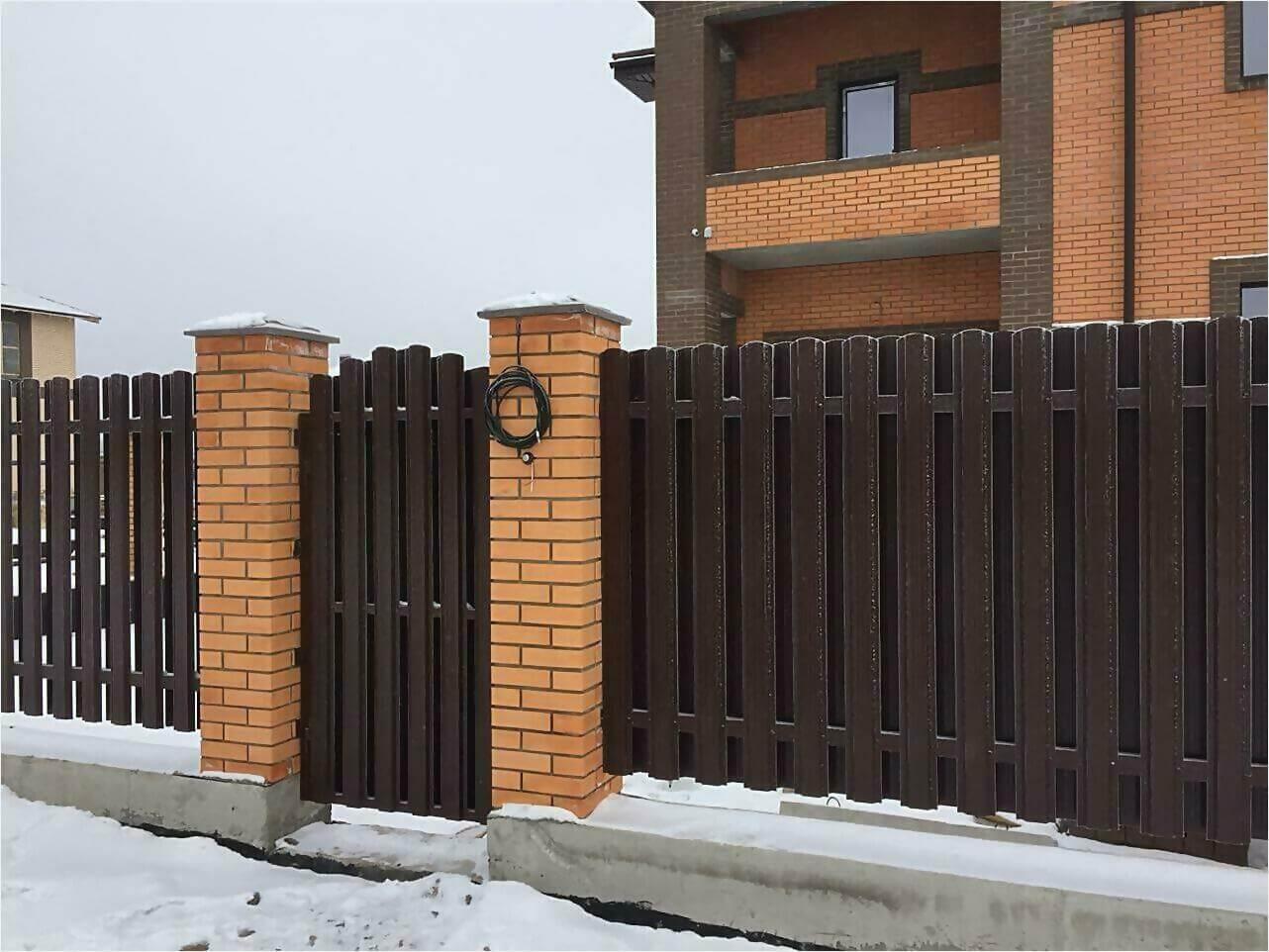 Забор из штакетника 95м фото2