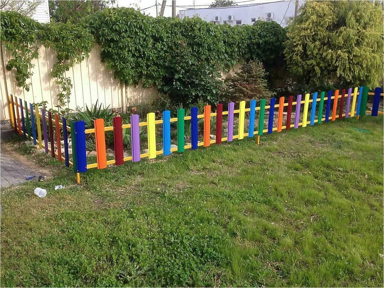 забор из штакетника 9м фото1