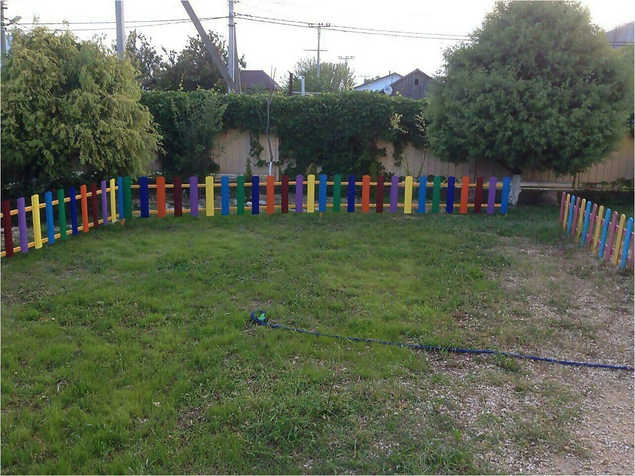 забор из штакетника 9м фото3