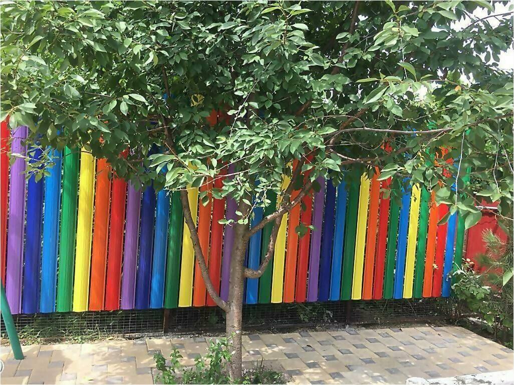 забор из штакетника 25м фото2