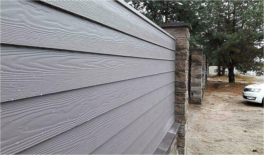 Забор из винилового сайдинга фото3