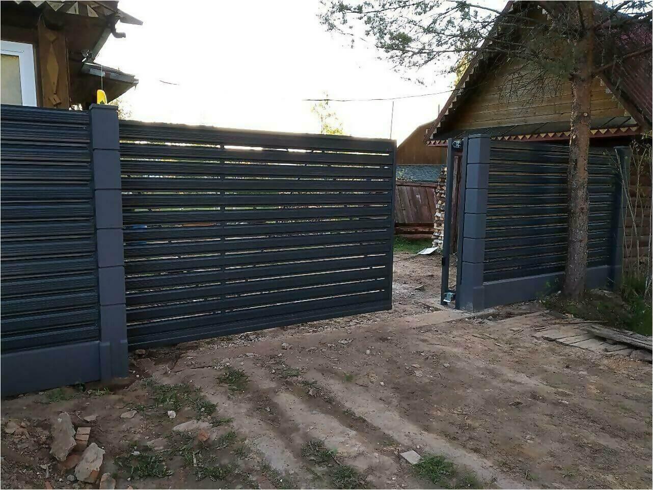 забор-ранчо из штакетника 75м фото3
