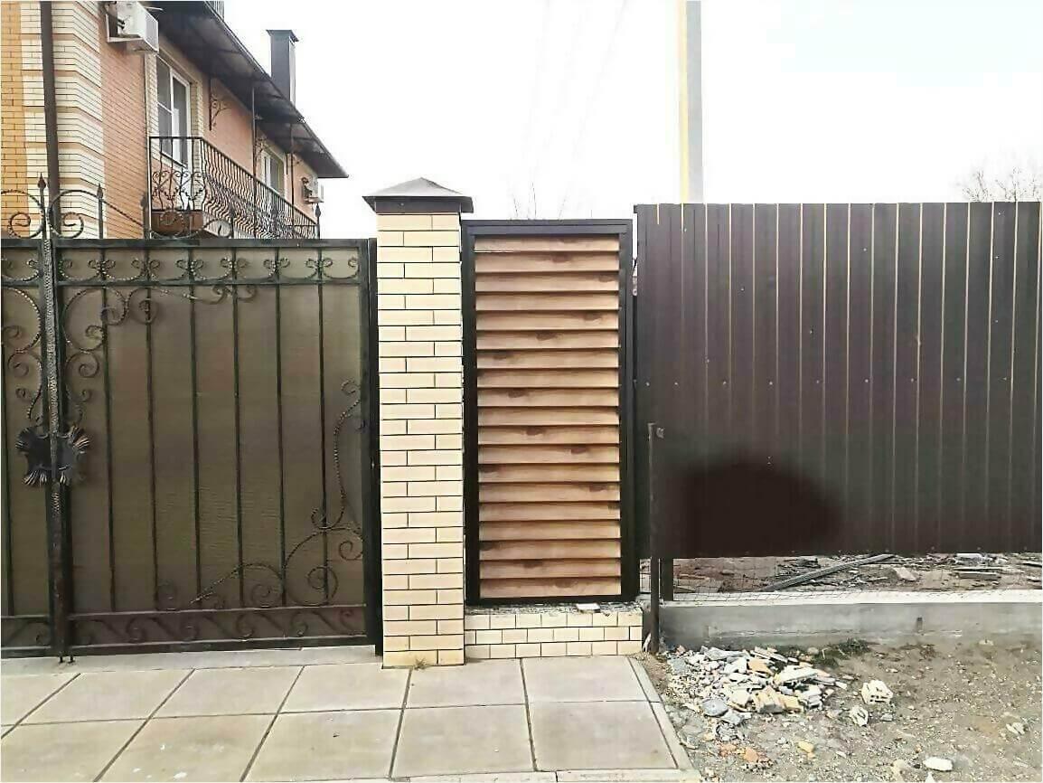 Забор жалюзи 50м светлое дерево фото9
