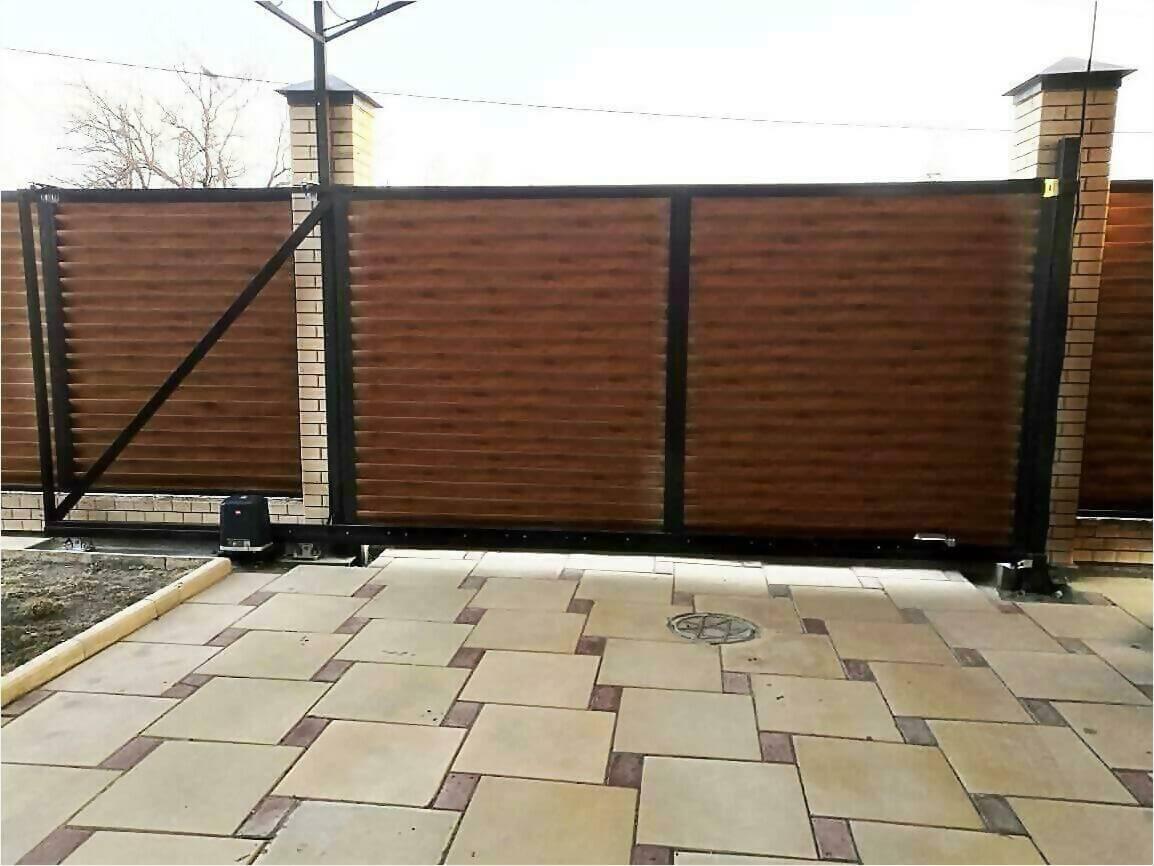 Забор жалюзи 50м светлое дерево фото6