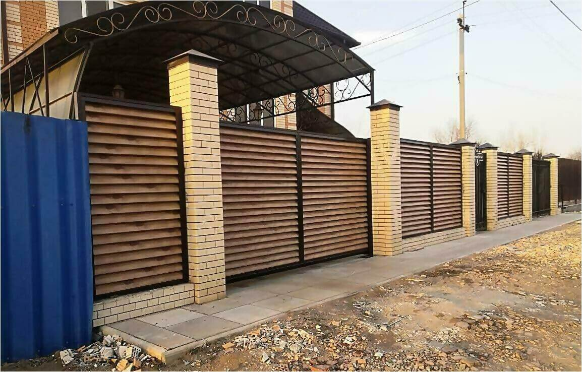 Забор жалюзи 50м светлое дерево фото4