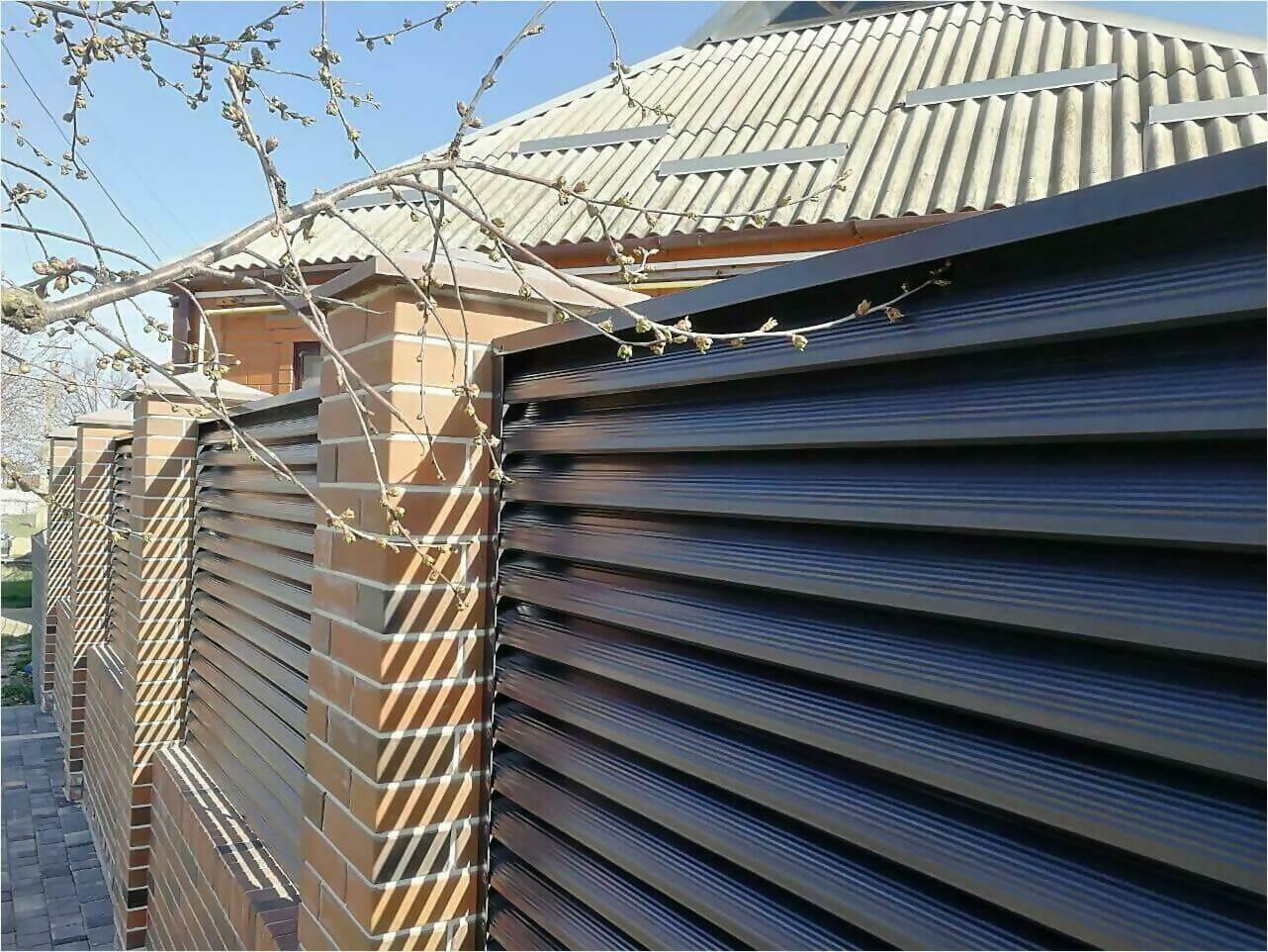 Забор-жалюзи 65м RAL7024 фото22