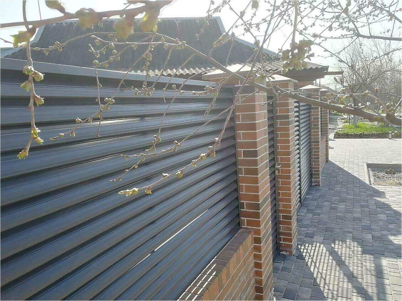 Забор-жалюзи 65м RAL7024 фото21