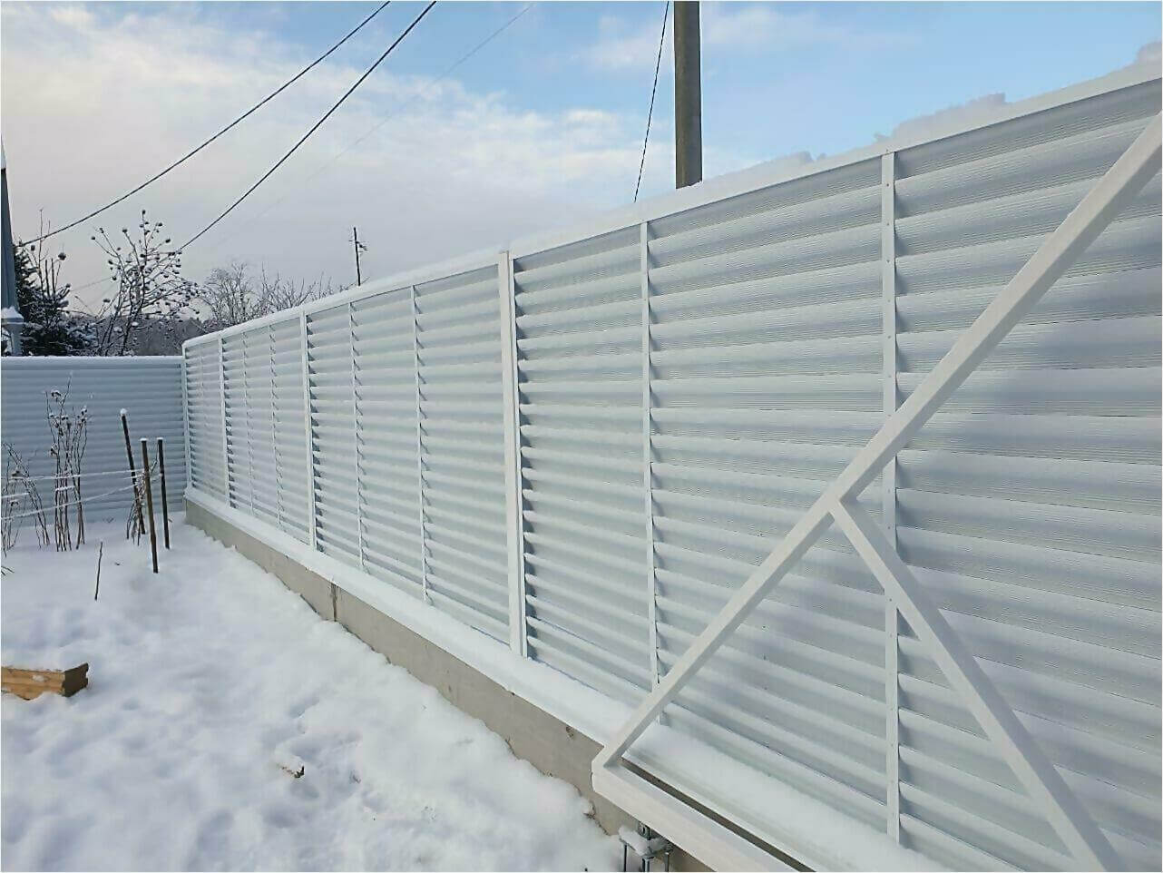 Забор жалюзи 150м RAL9003 фото3