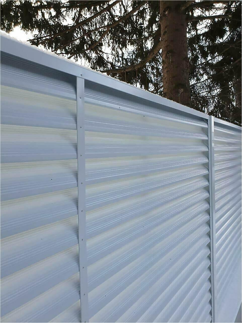 Забор жалюзи 150м RAL9003 фото6