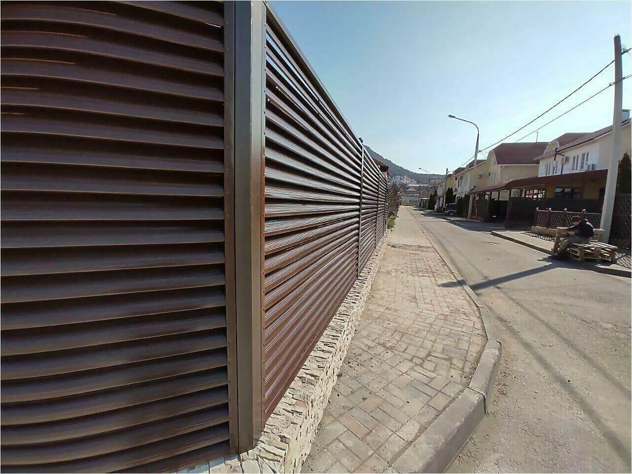 Забор-жалюзи 120м Шоколад фото3