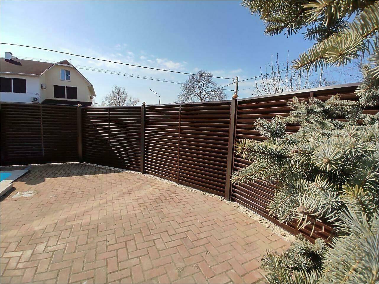 Забор-жалюзи 120м Шоколад фото2