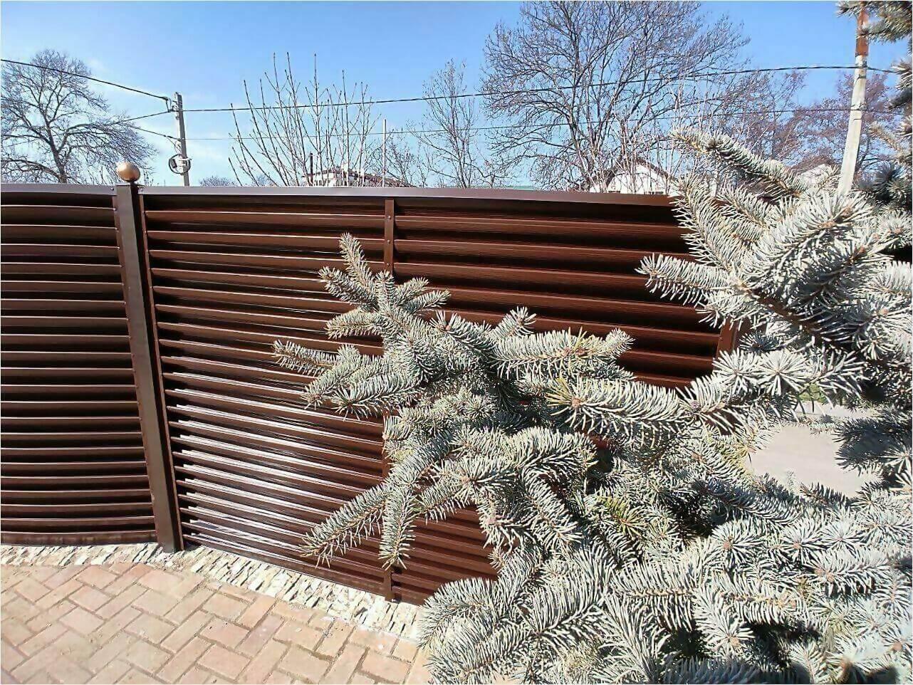 Забор-жалюзи 120м Шоколад фото9