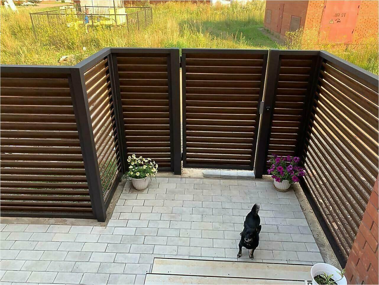 Забор-жалюзи каштан двусторонний фото4