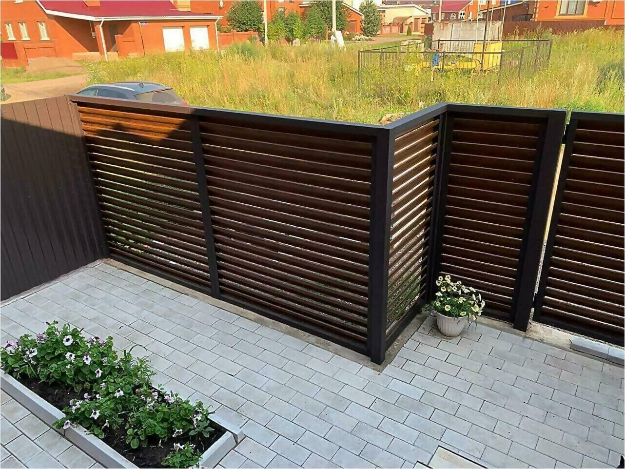 Забор-жалюзи каштан двусторонний фото5