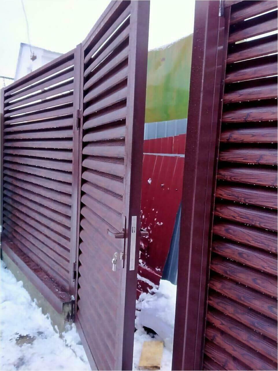 забор-жалюзи Каштан Красный фото2