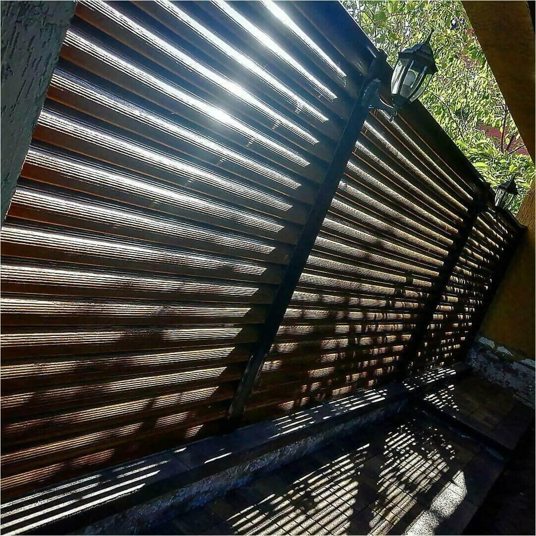 Забор-жалюзи Орех фото4