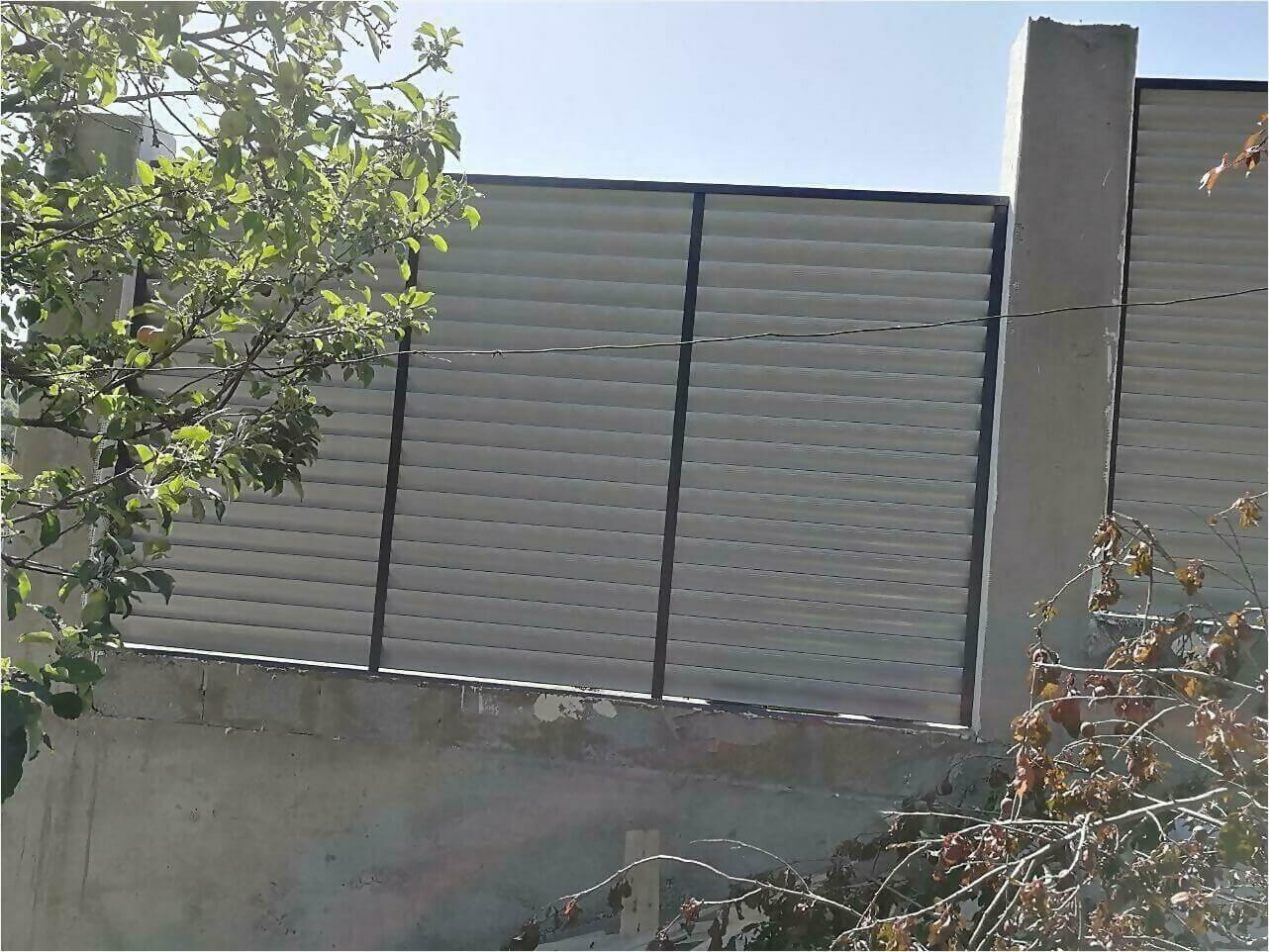 Забор-жалюзи Серый графит фото5